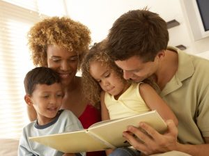 BLAS mixed-race-family-reading